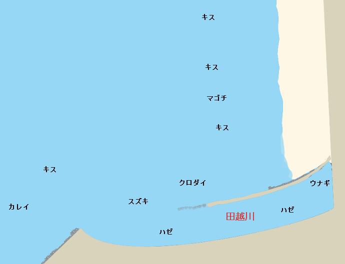 逗子海岸ポイント図