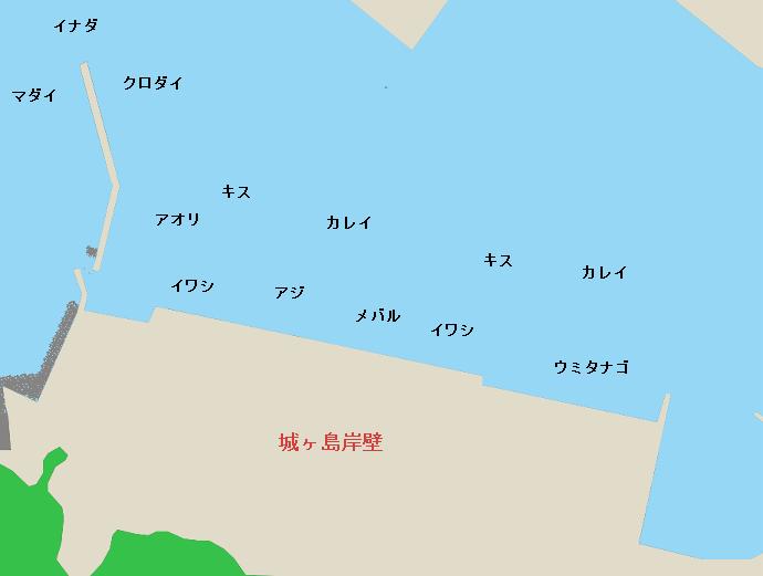 城ヶ島岸壁ポイント図