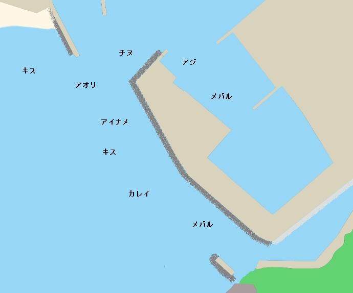 阿那賀漁港ポイント図
