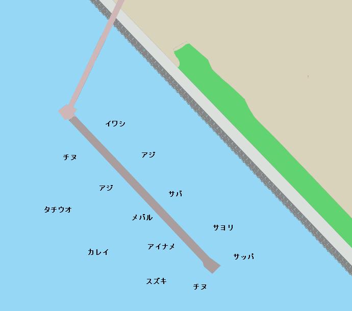 尼崎魚つり公園ポイント図