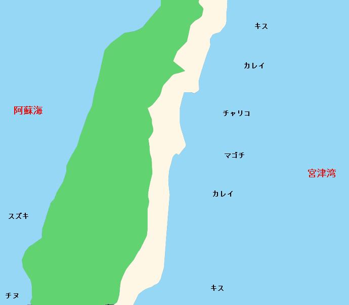 天橋立ポイント図