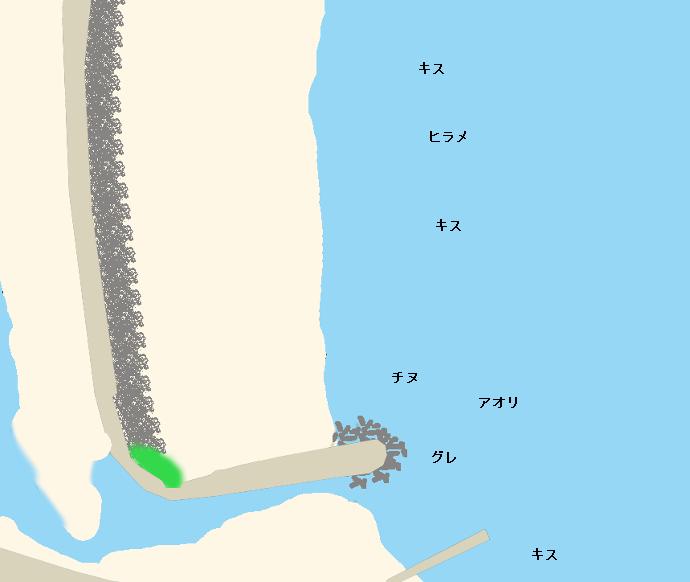 安和海岸ポイント図