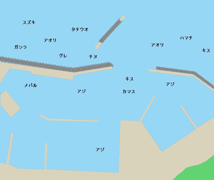 阿尾漁港ポイント図
