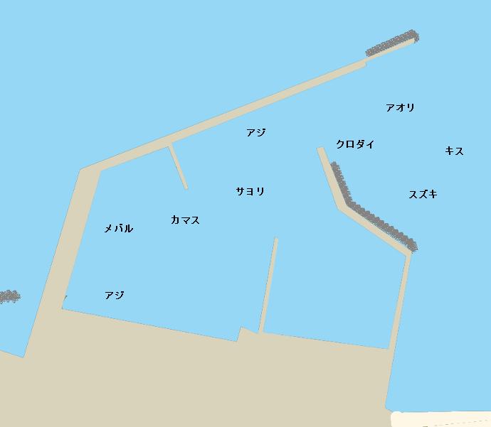有馬川港ポイント図