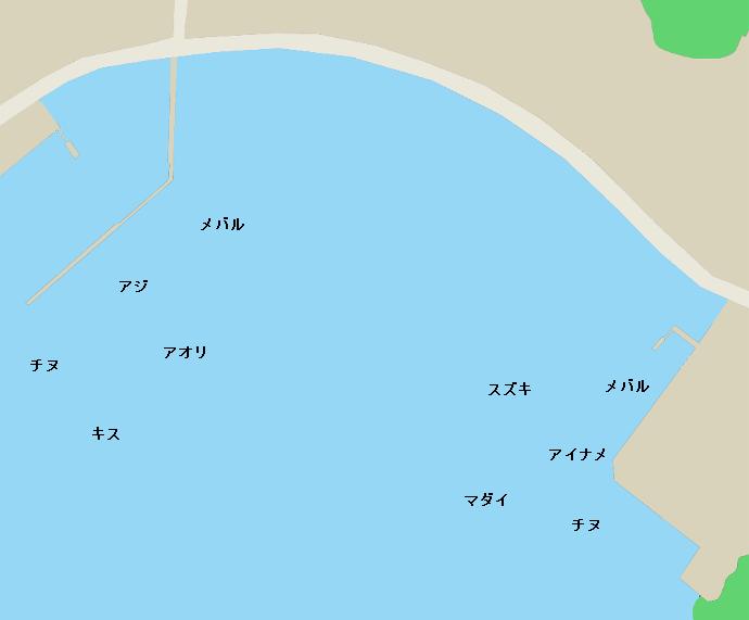 有津港周辺のポイント