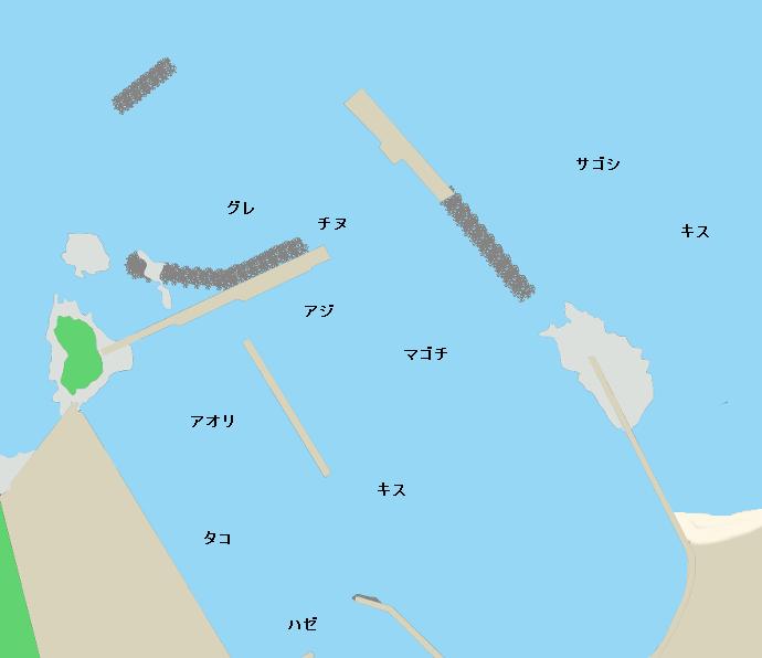 浅茂川港ポイント図
