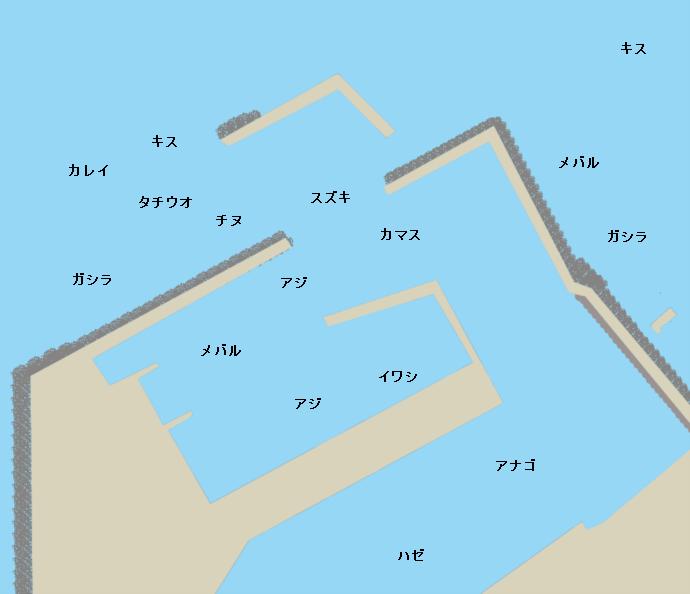 淡輪漁港ポイント図