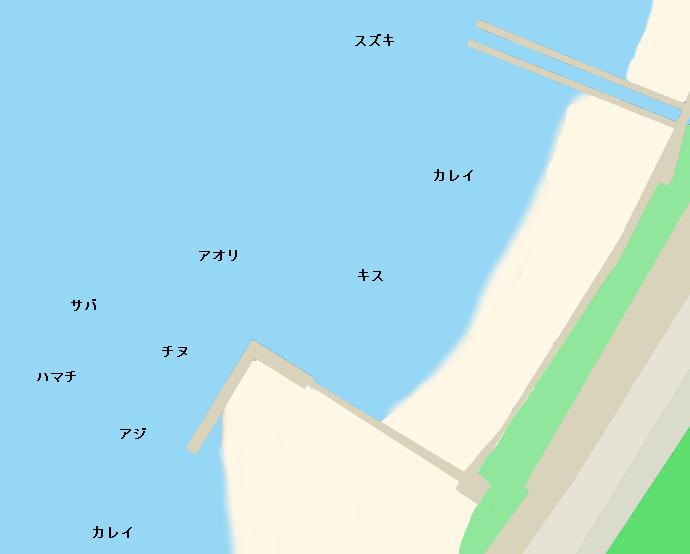 ベイサイドビーチ坂ポイント図