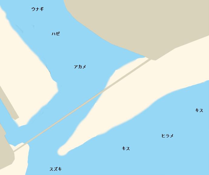 仁淀川河口ポイント図