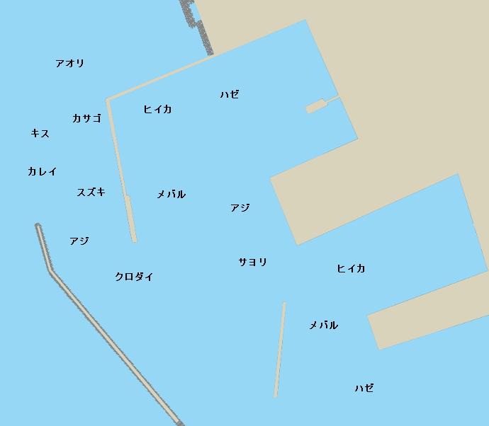 知柄漁港ポイント図