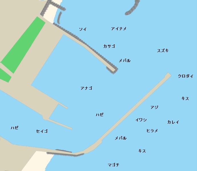 千代崎漁港ポイント図