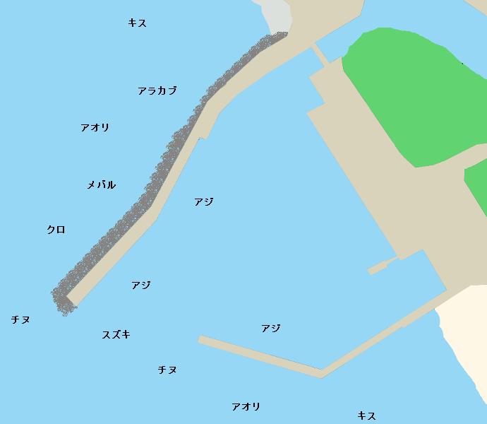 芥屋漁港ポイント図