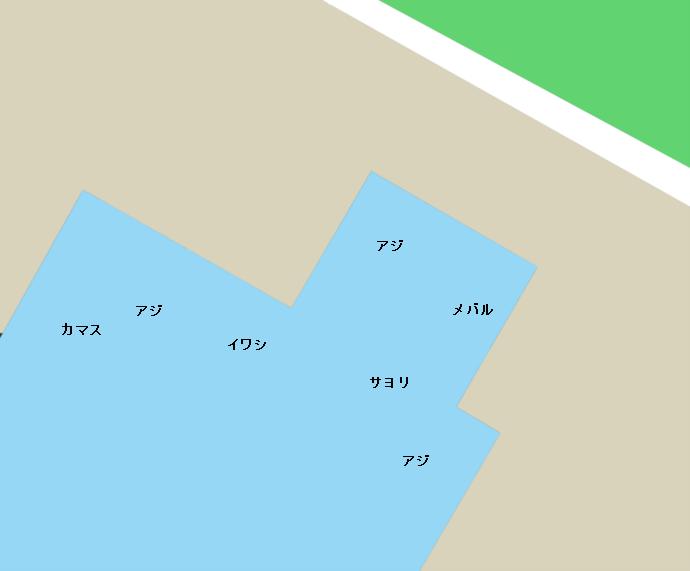 福井新港第二排水溝ポイント図