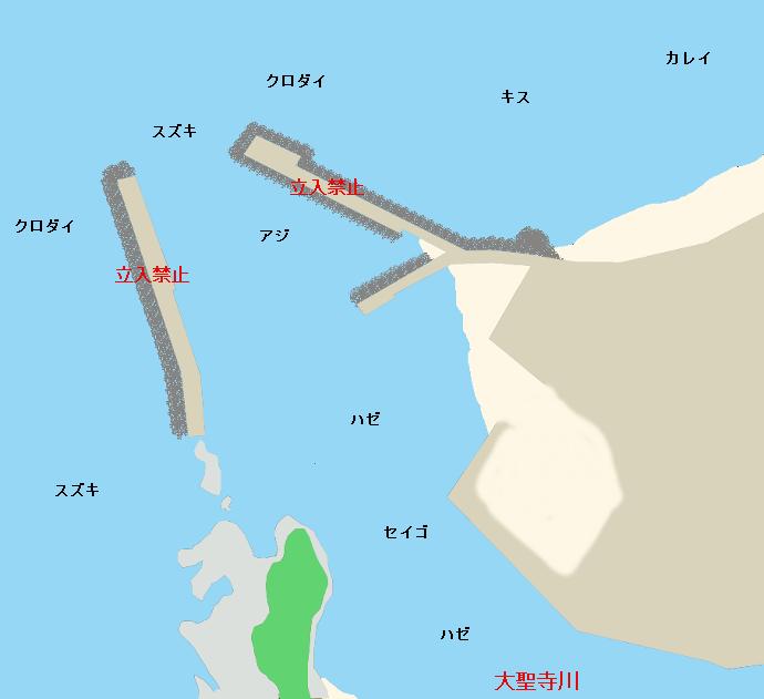 大聖寺川河口ポイント図