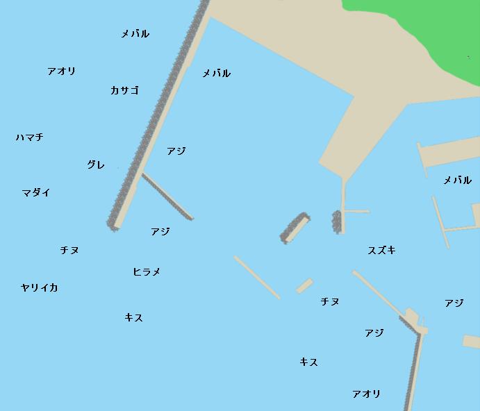 恵曇港ポイント図