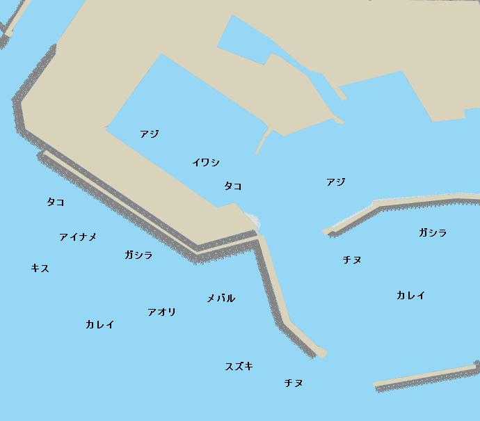 江井ヶ島漁港ポイント図
