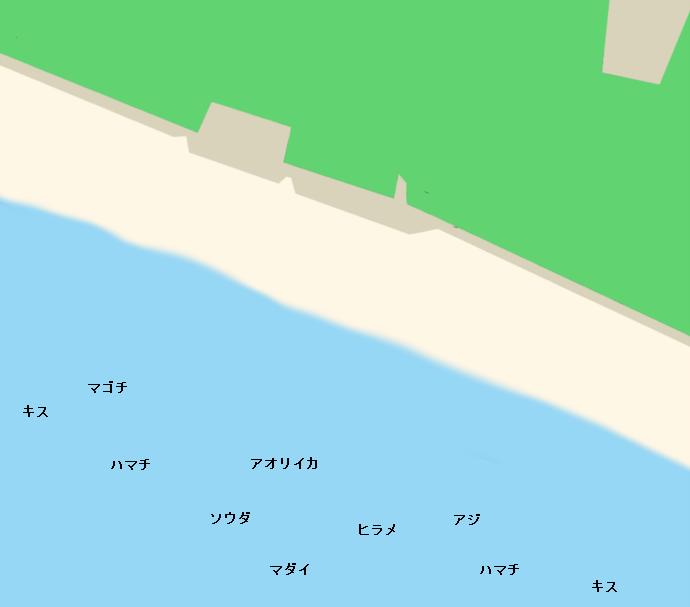 煙樹ヶ浜ポイント図