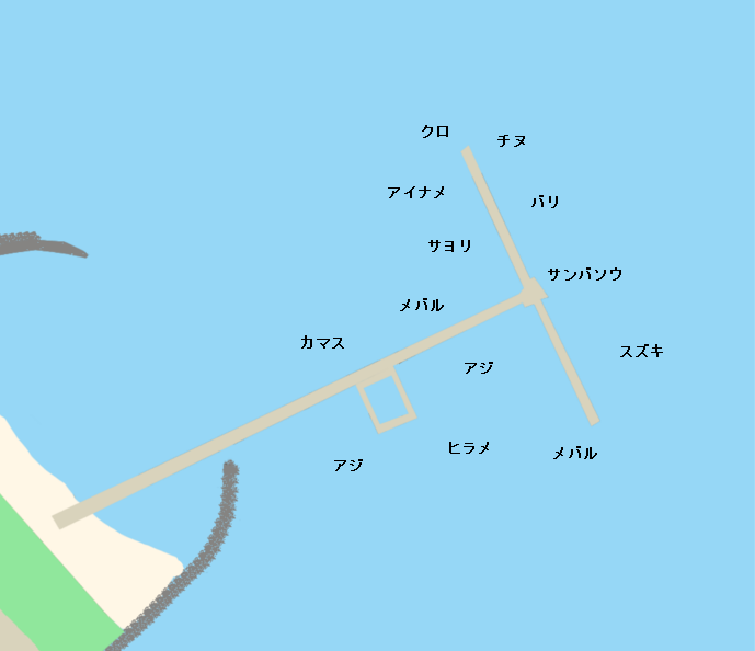 福岡市海釣り公園ポイント図