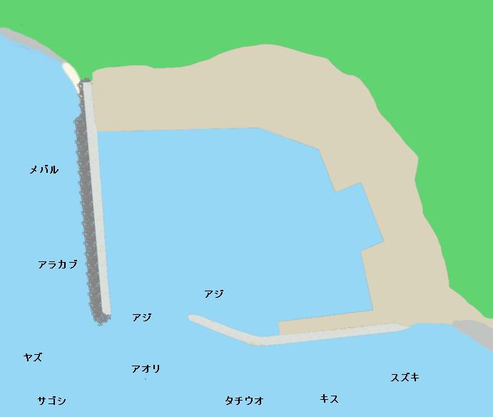 深江漁港ポイント図