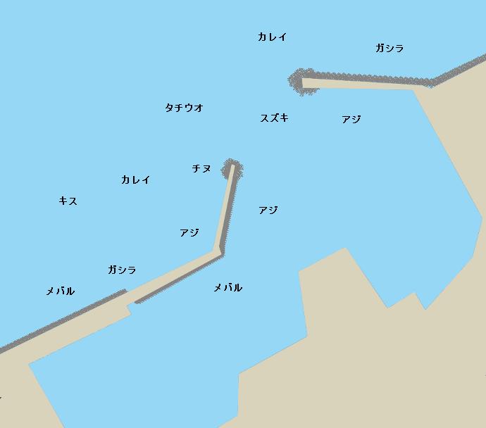 深日港ポイント図