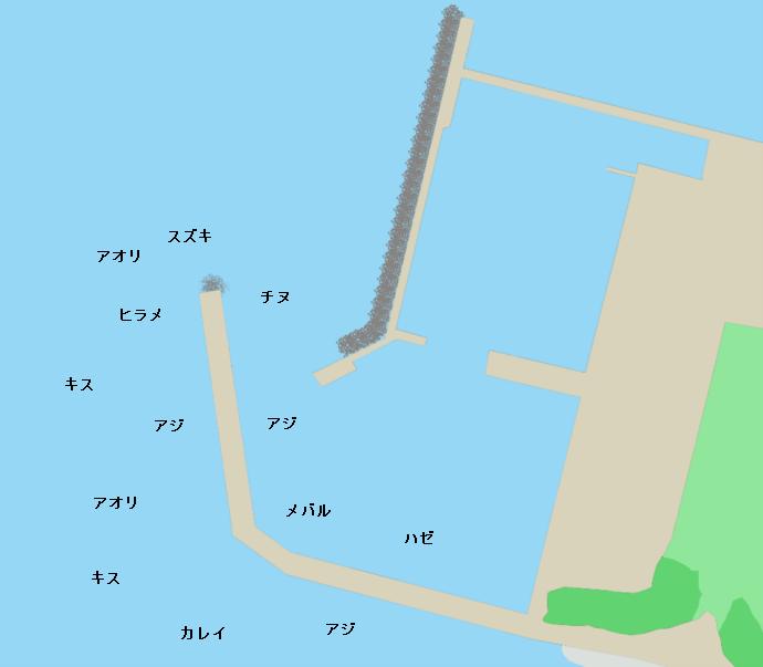 福間漁港ポイント図