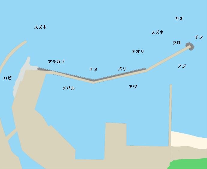 福吉漁港ポイント図