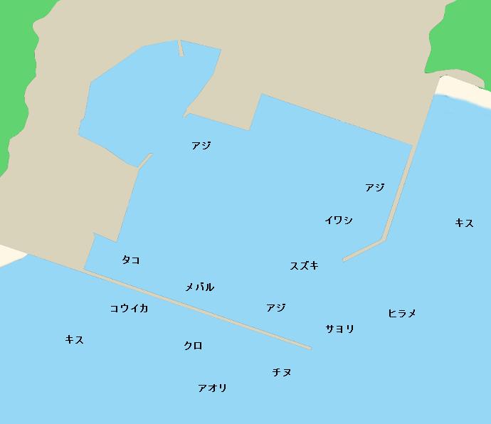 船越漁港ポイント図