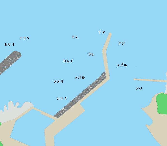 御座漁港ポイント図