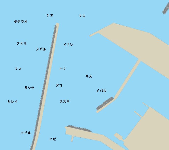 郡家港ポイント図