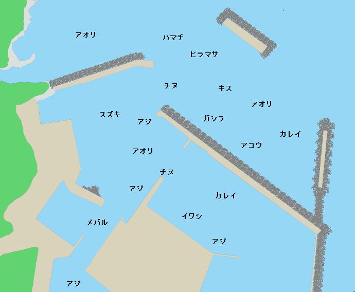 浜坂港ポイント図