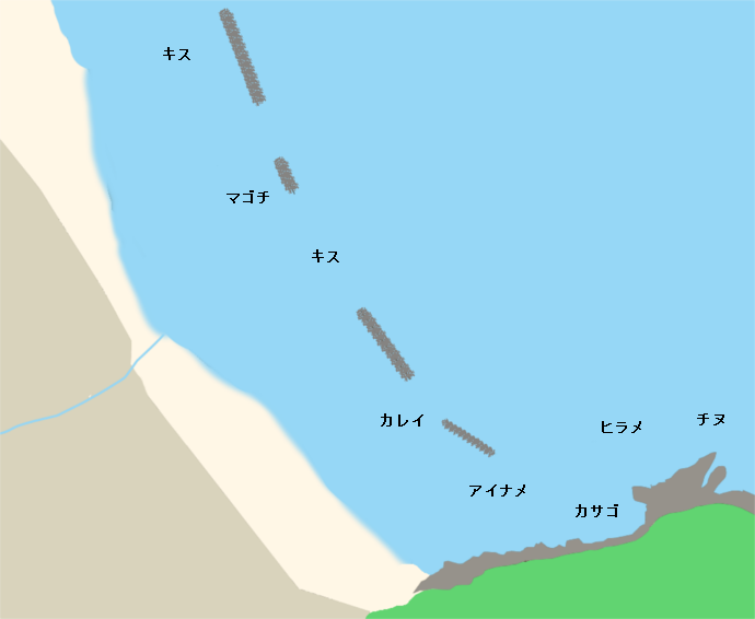 浜詰浜ポイント図