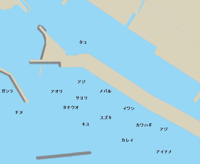 林崎漁港ポイント図