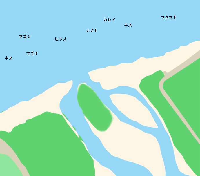 早月川河口ポイント図
