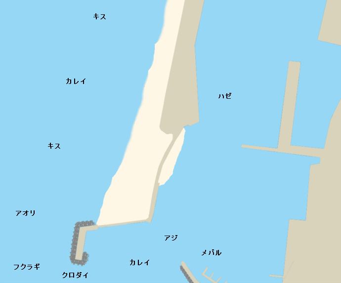 経田漁港ポイント図