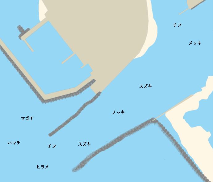 日高川河口ポイント図