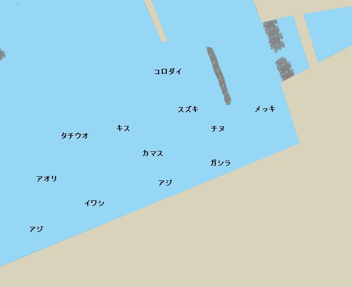 日高港ポイント図