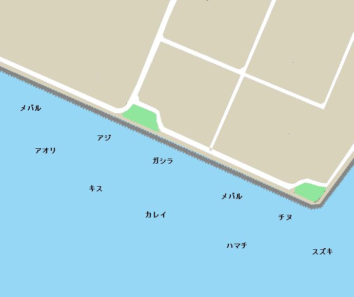 東二見人工島ポイント図