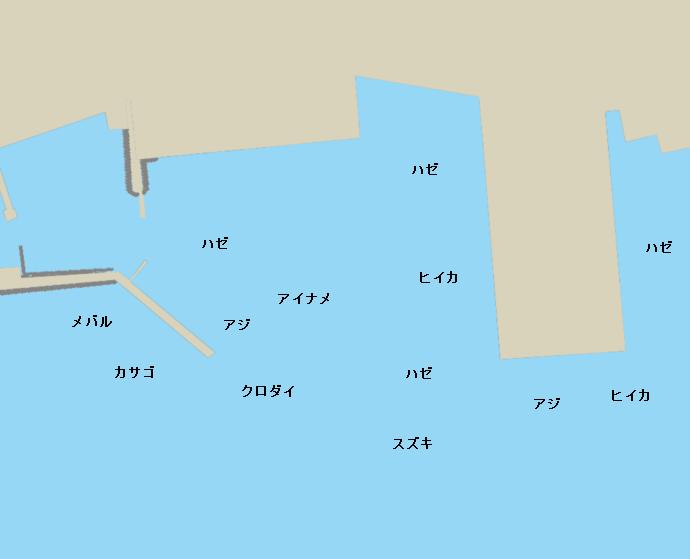 東幡豆漁港ポイント図