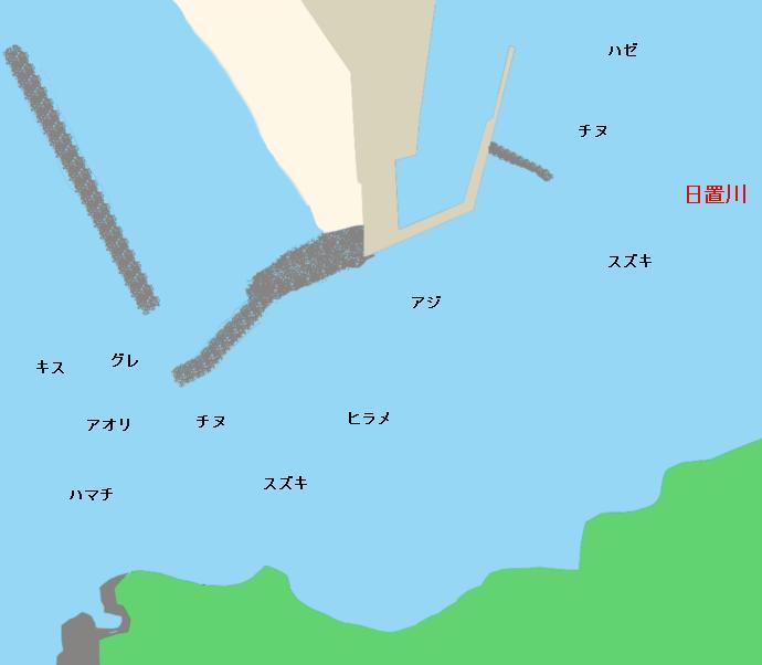 日置川河口ポイント図