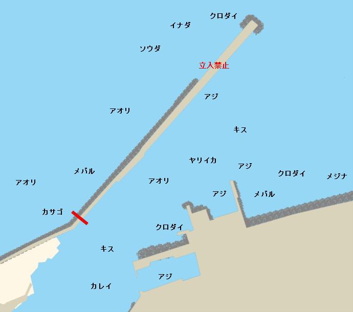 姫川港ポイント図