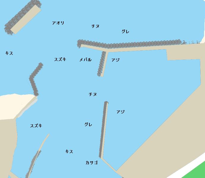 日向港ポイント図