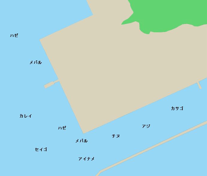 日生港ポイント図