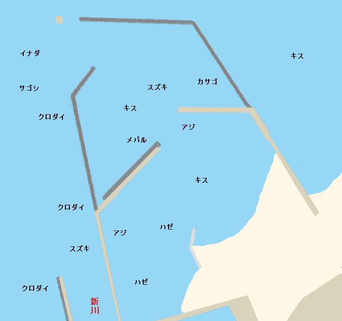 新川漁港ポイント図