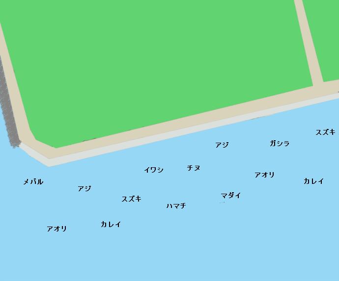 平磯海釣り公園ポイント図