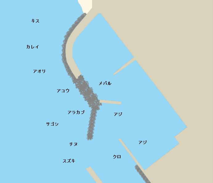 弘漁港ポイント図