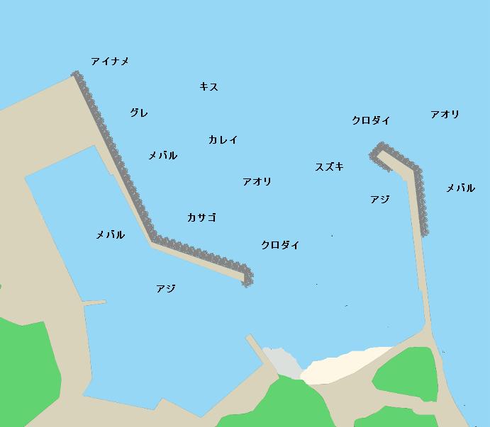 石鏡漁港ポイント図