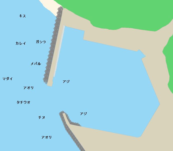 伊毘漁港ポイント図