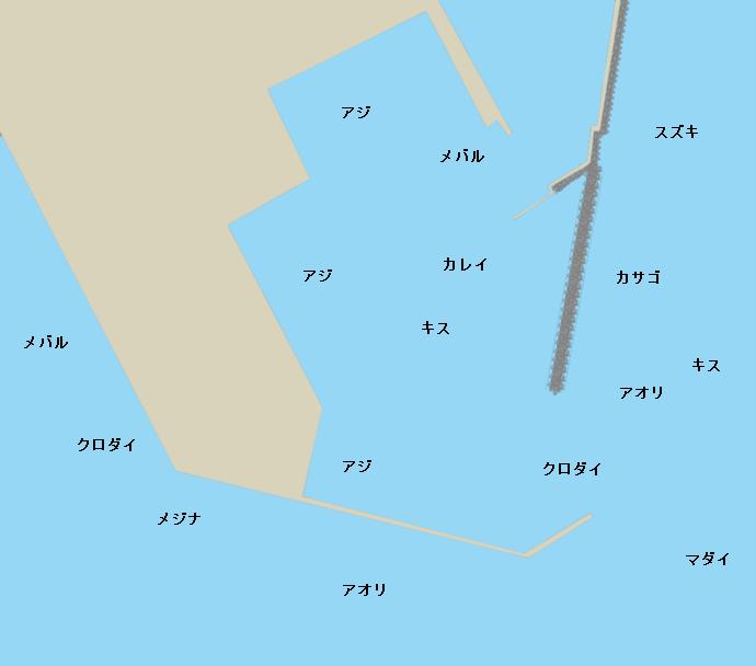 飯田港ポイント図
