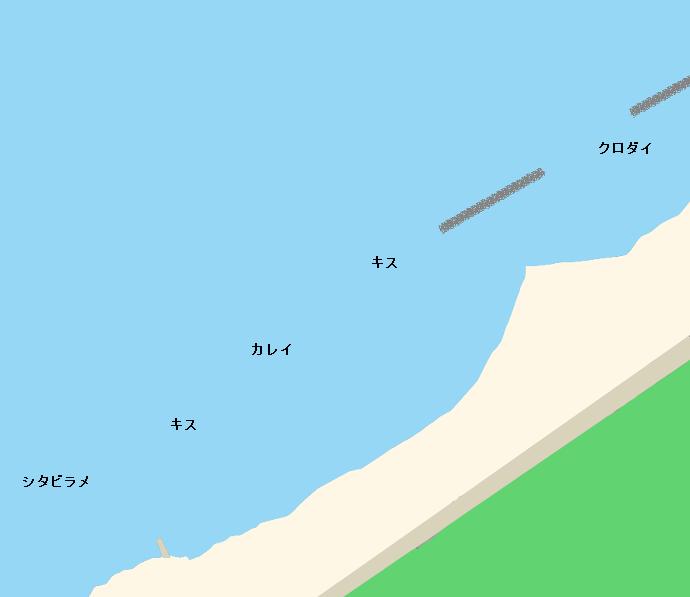 五十嵐浜ポイント図