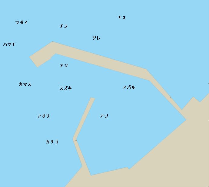 居倉漁港ポイント図